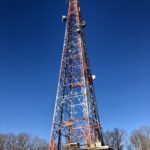 Vertical picture of the American Tower structure in Corbin, Virginia